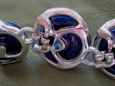 Blue disk bracelet