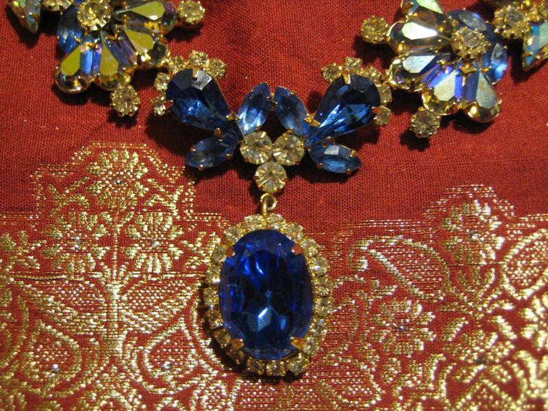 Sapphire necklace closeup