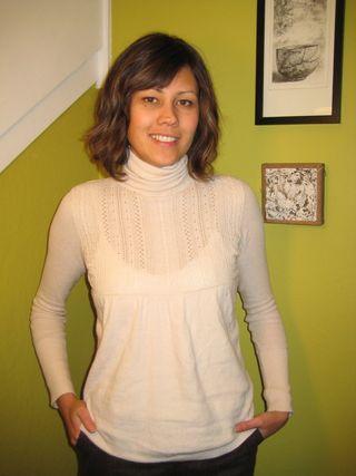 Sweater blog - white turtleneck