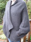 Wool wrap sweater