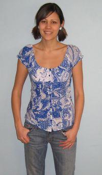 Blue_Guess_blouse