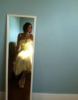 Yellow 1950s dress front