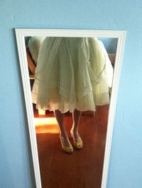 Yellow 1950s dress skirt