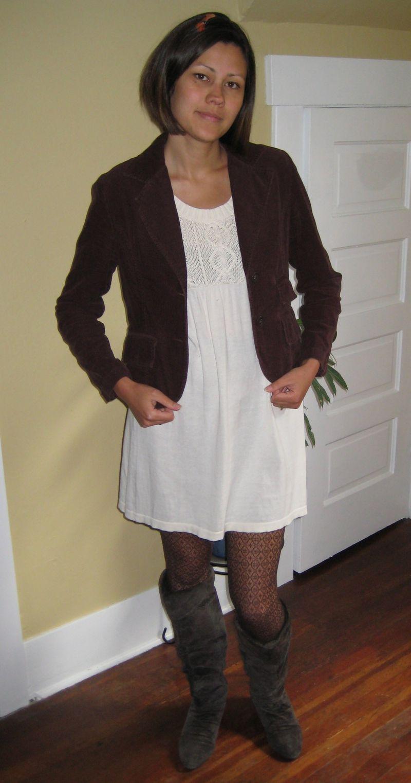 Sweater dress and jacket