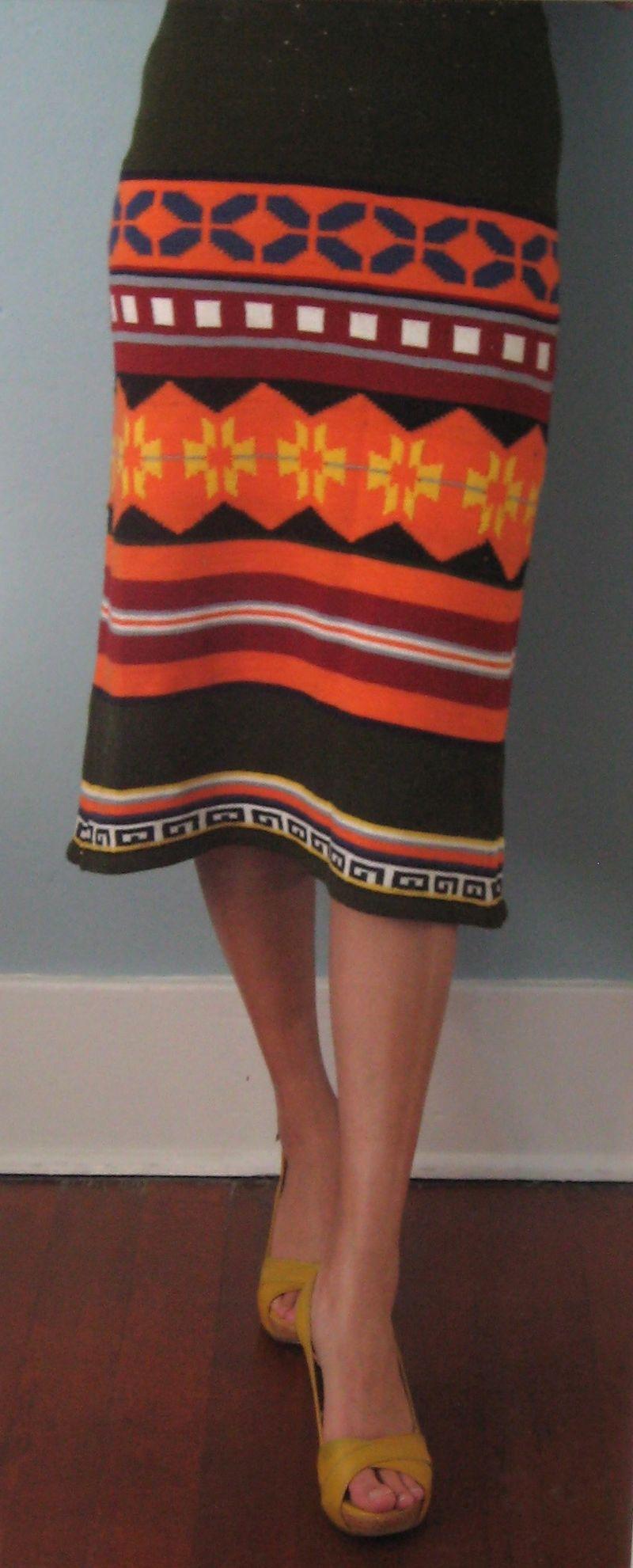 Orange sweater skirt